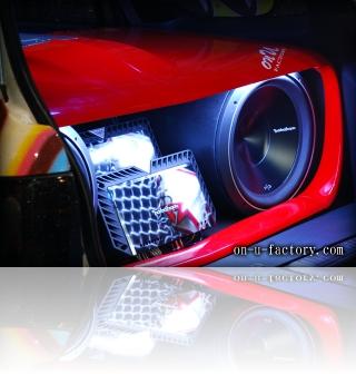 ホンダ パートナーバン デモカー ドアスピーカー ラゲッジサブウーファー<京都カスタム・カー・オーディオ オンユーファクトリー>