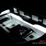 グロリア ラゲッジインストール:アンプラック(2機) サブウーファーボックス(異形) キャパシター(2機)&プロセッサーラック ネオン管電飾 フルアクリル仕上げ
