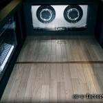 ハイエース ラゲッジインストール:アンプラック(2機) サブウーファーボックス(2発) ブックシェルフ 作成 LED電飾