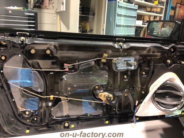 onUfactory オンユーファクトリー 70スープラ カーオーディオカスタム ドアデッドニング PVC下地穴埋めプレート