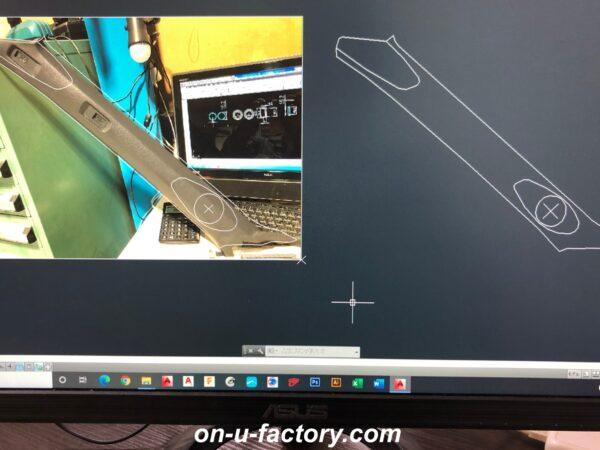onUfactory オンユーファクトリー カーオーディオカスタム Aピラー加工 ツィーターマウント製作 CAD図面デザイン設計 CNCルーター 切り出し