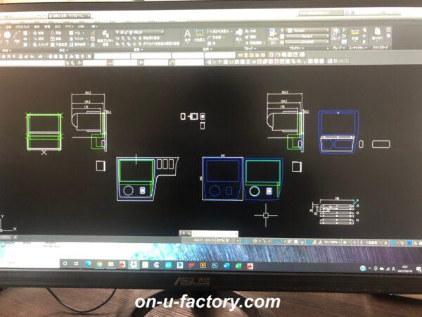 onUfactory オンユーファクトリー カーオーディオカスタム シフトインジケーター ブースト計 デッキパネル製作 CAD図面デザイン設計 CNCルーター 切り出し