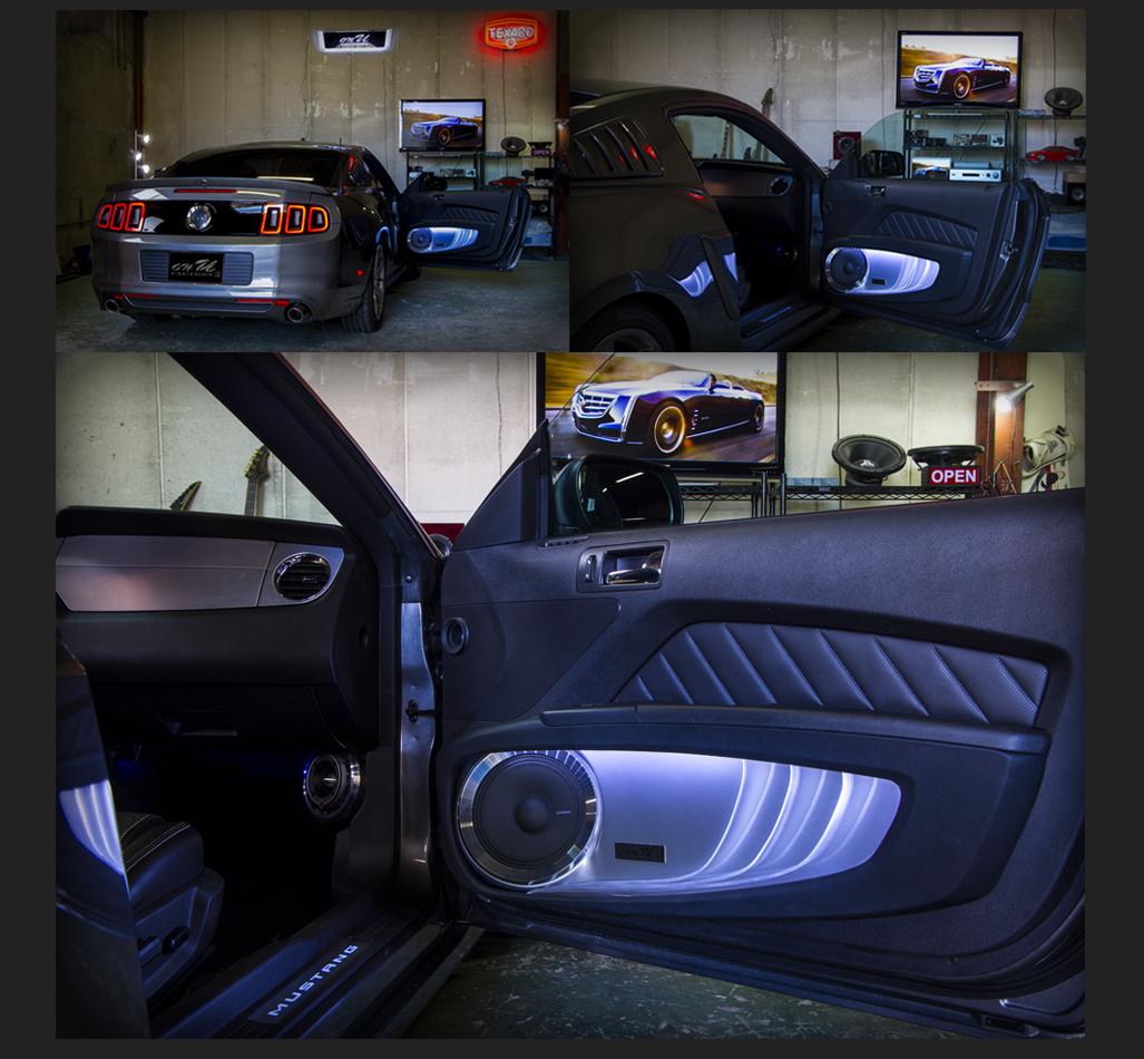 フォード マスタング Ford MUSTANG フロントドアスピーカー:トゥイター:Rockford Fosgateロックフォード PP4-T、ミッドレンジスピーカー:Rockford Fosgateロックフォード PM-180
