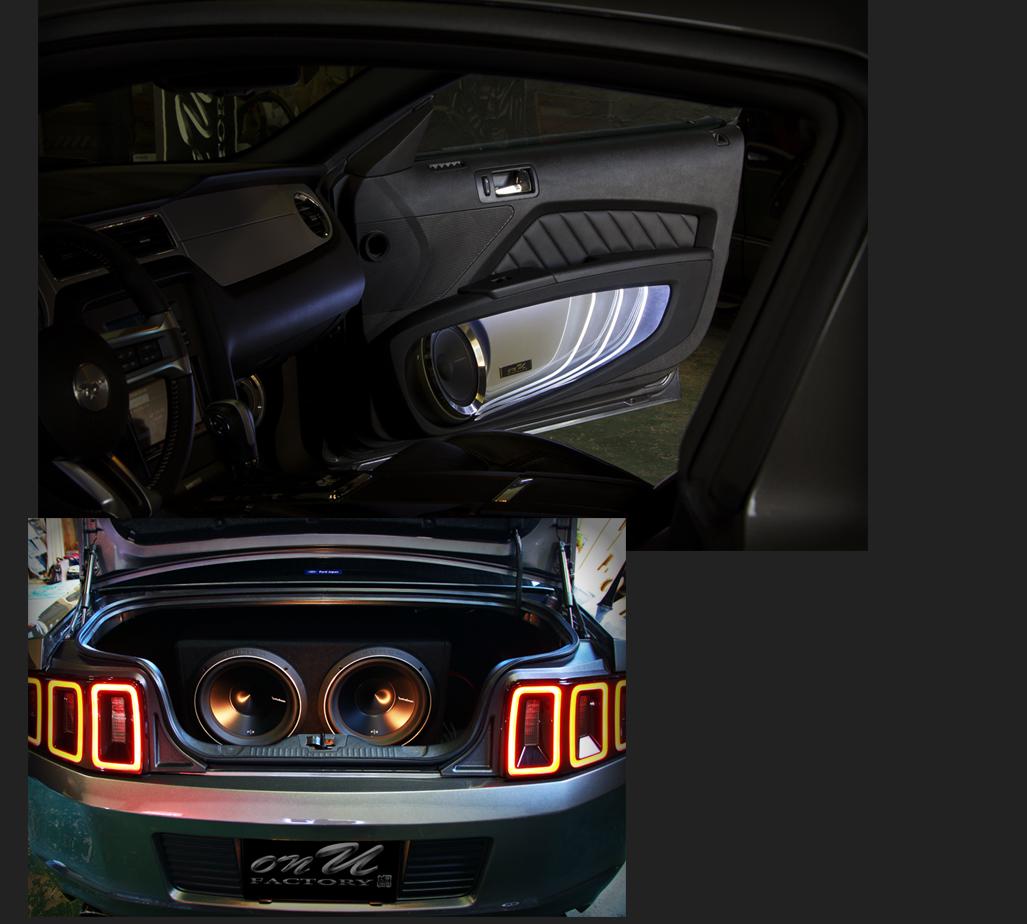 フォード マスタング サブウーファー:Rockford Fosgateロックフォード P3D2-12