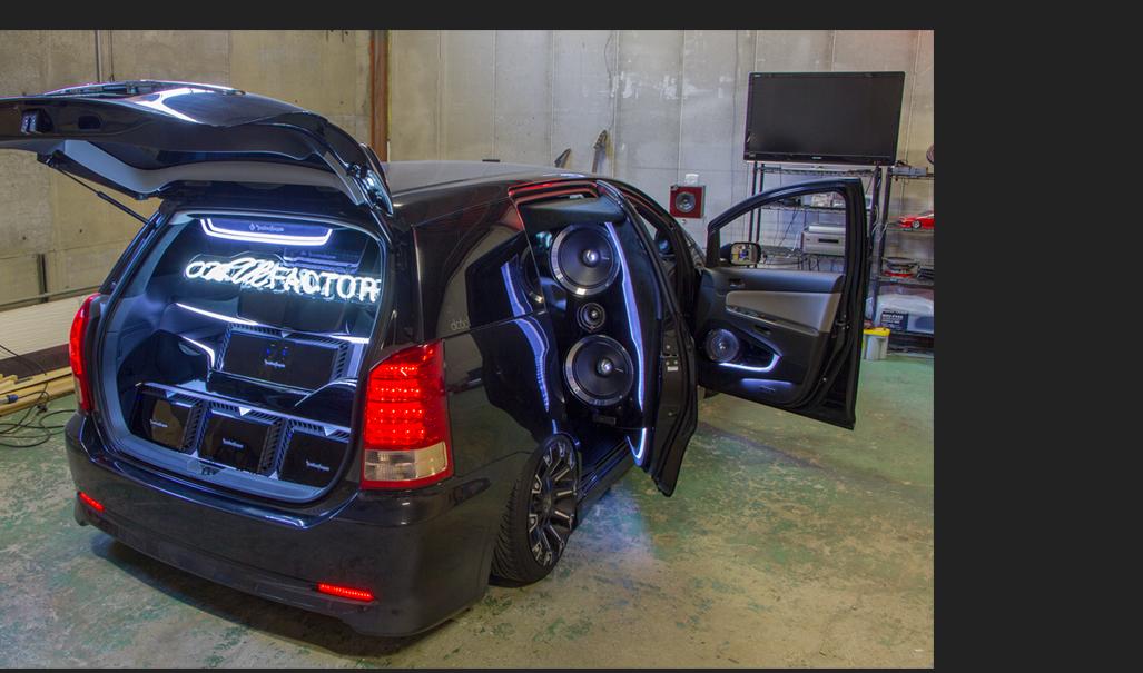 オンユーファクトリー トヨタ ウイッシュ ラゲッジ アンプ:Rockford fosgate ロックフォード T2500-1bdcp T400-2 T600-2
